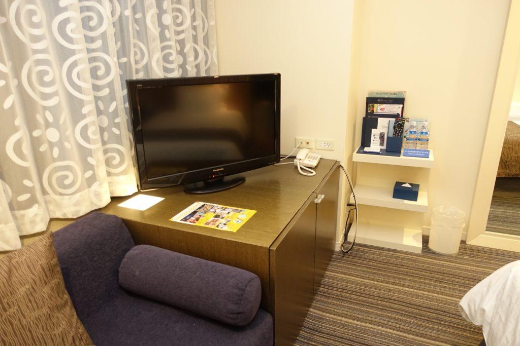 ホテルユニバーサルポートの液晶テレビ