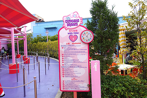 ハローキティのカップケーキドリームの待ち時間