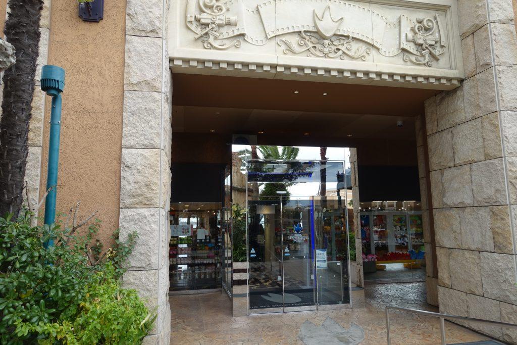 レックス商店街はホテルユニバーサルポートの東側入口はいってすぐ