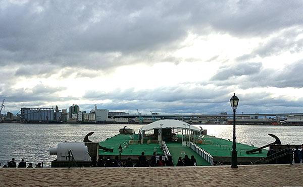 USJの海上シャトルバス乗り場