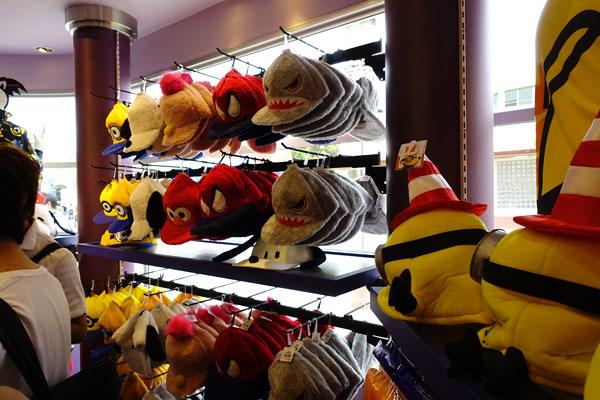 帽子の売り場