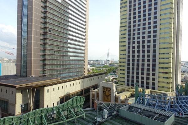 ホテル京阪ユニバーサルシティの部屋から見える景観