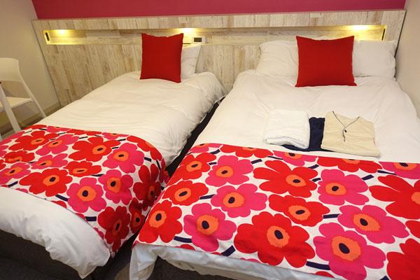 サイズ違いのベッド
