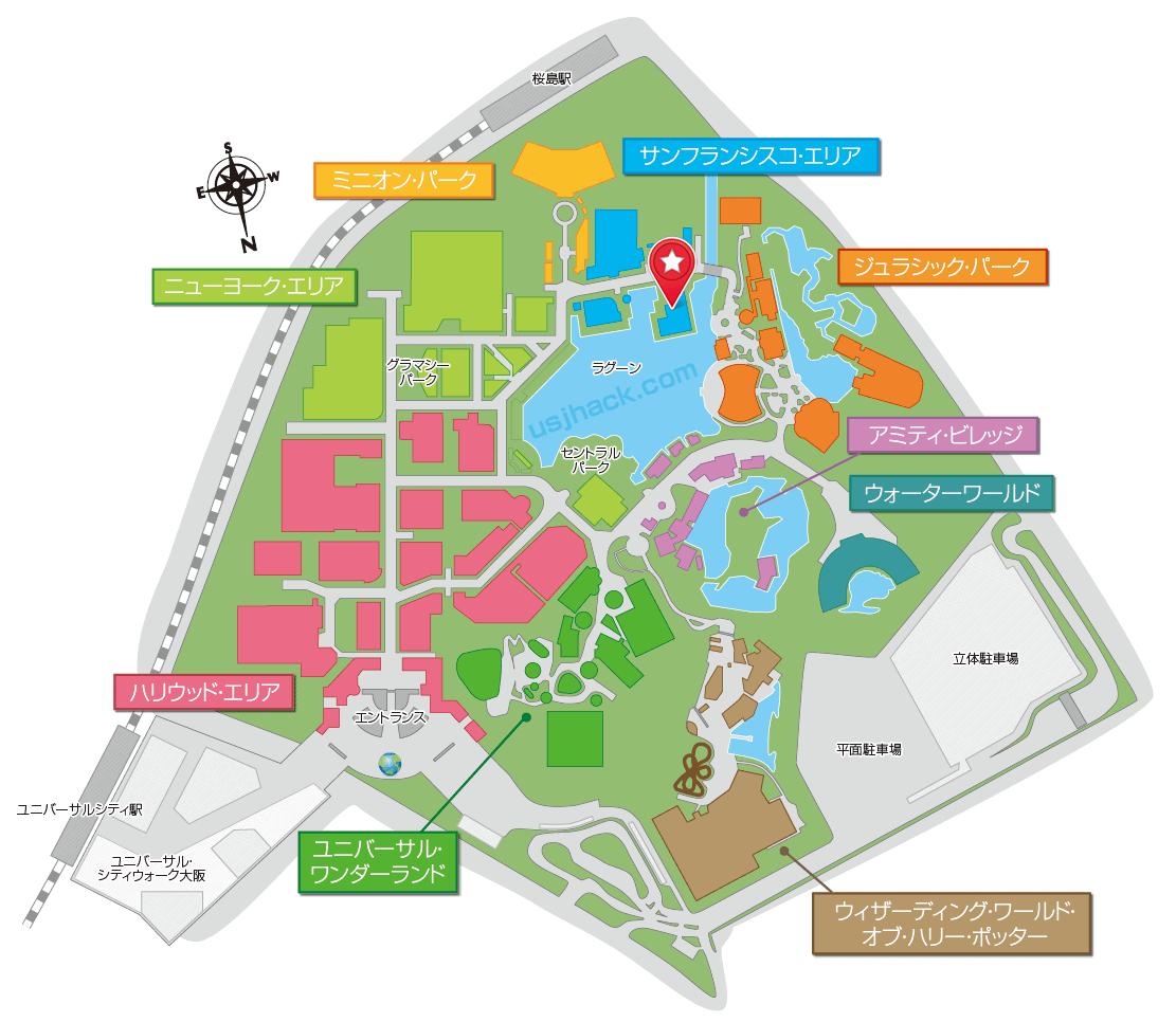 ロンバーズランディングのマップ