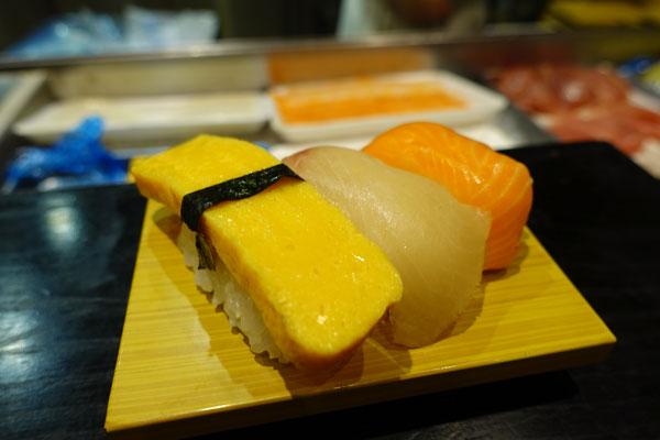 握ってもらったお寿司