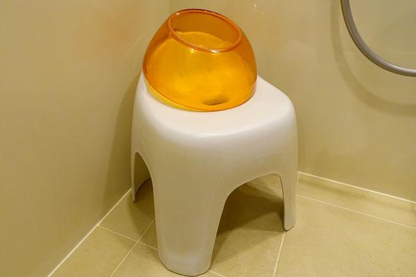 バスチェアと洗面器