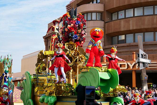 USJハロウィンのパレードが通るルート
