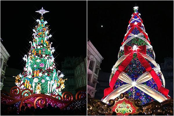 昨年までのクリスマスツリーとの比較