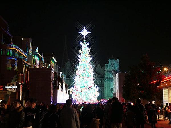 USJクリスマスツリーの観られる期間