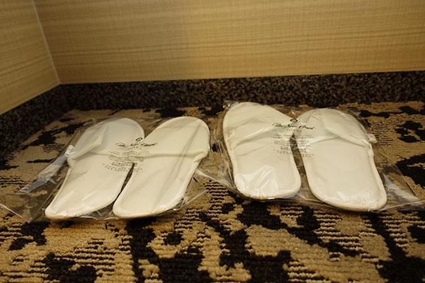 ホテルニューオータニ大阪のスリッパ