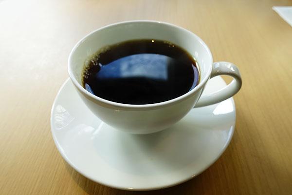 ホットコーヒーは熱々