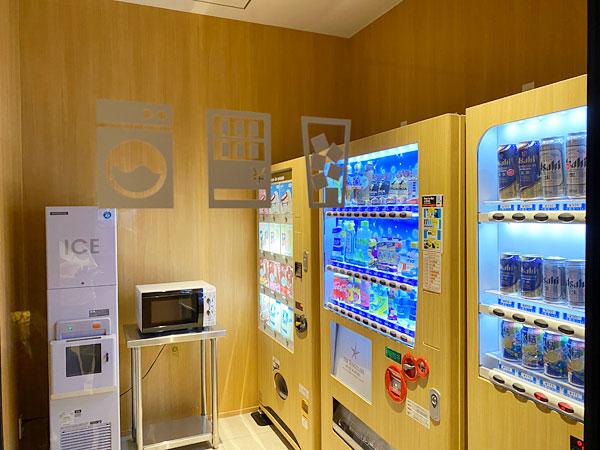 【USJシンギュラリホテル大浴場スカイスパ】湯上がり処の自販機ルーム