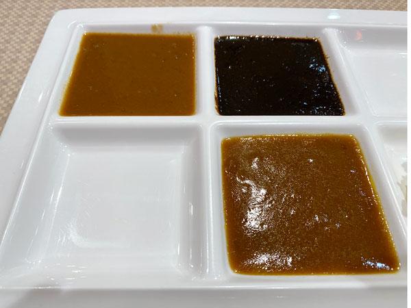 カレー3種類の食べ比べ