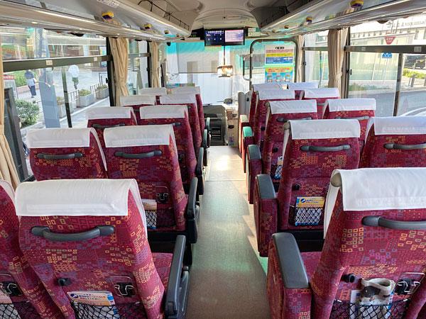 貸切状態のバス