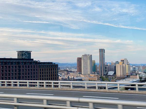高速バスからUSJの眺め