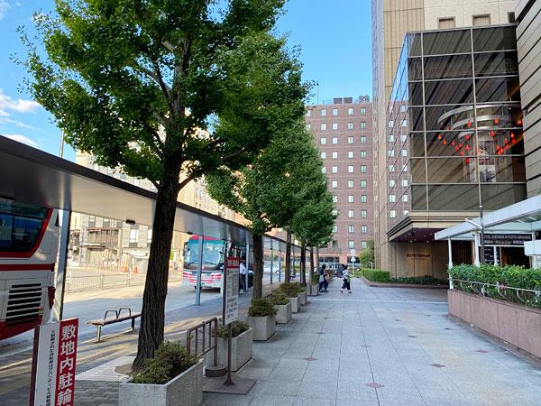 ホテル京阪京都グランデ前のバスのりば