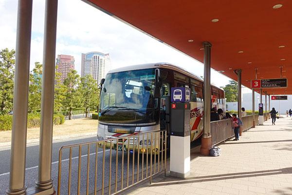 USJのバスのりば3番乗り場
