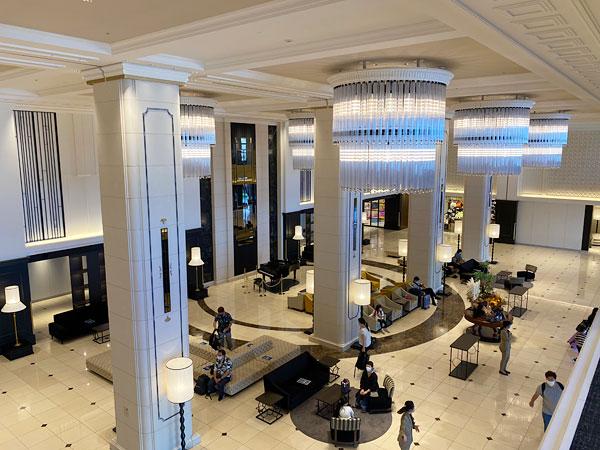 2階からみたリーベルホテルロビー