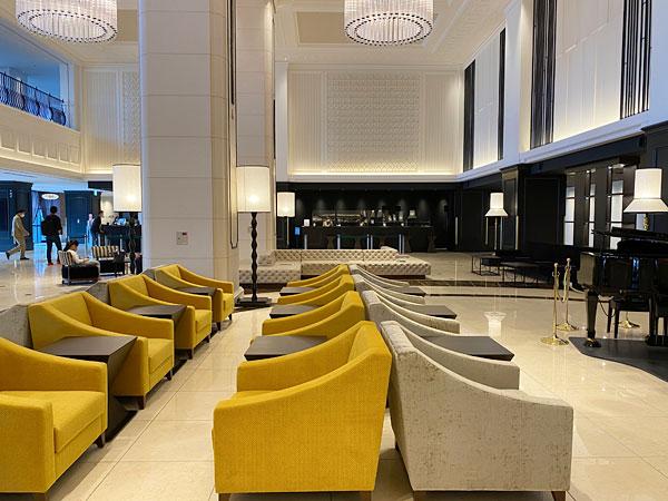 リーベルホテルロビーにあるソファ