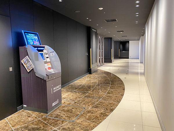 外貨両替機(リーベルホテル)