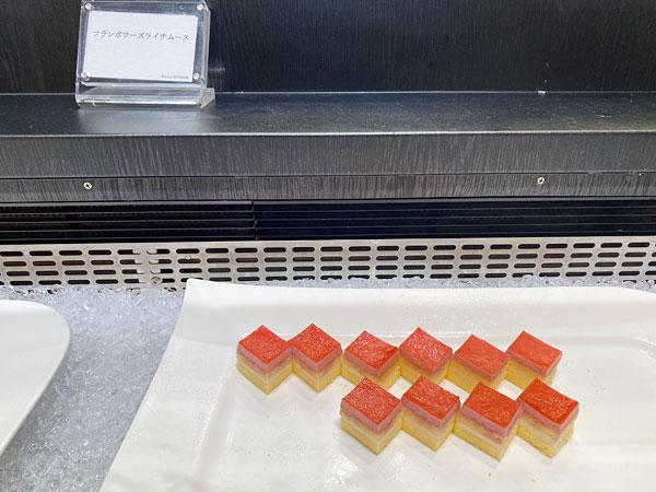 【リーベルホテル朝食ブッフェ】フランボワーズライチムース