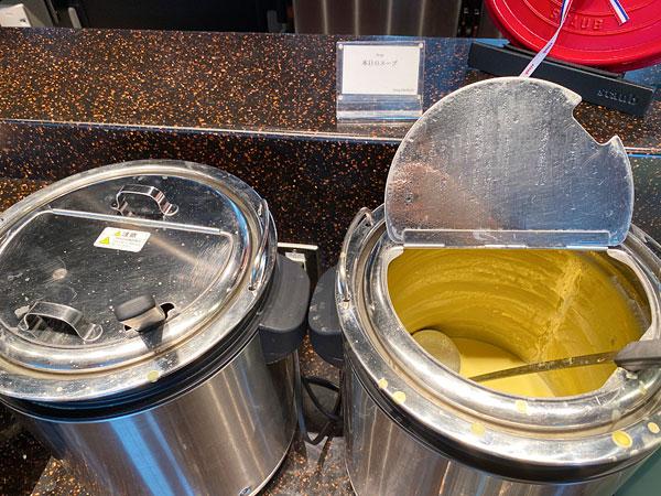 【リーベルホテル朝食ブッフェ】本日のスープ(コーンスープ)