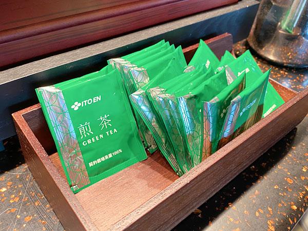 【リーベルホテル朝食ブッフェ】煎茶のティーバッグ