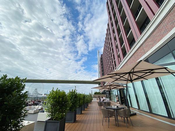 リーベルホテルの景色最高のテラス席