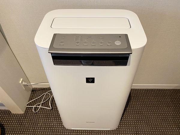 リーベルホテルの部屋の空気清浄機