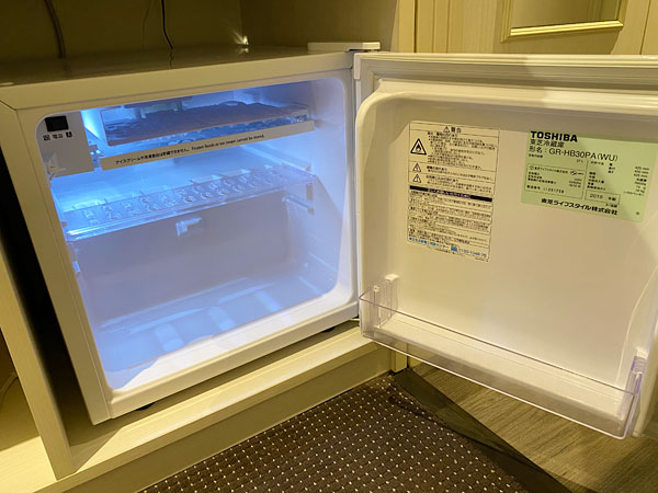 【リーベルホテルの部屋】冷蔵庫の中