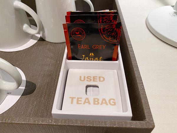 【リーベルホテルの部屋】使い終わったティーバッグ置き場