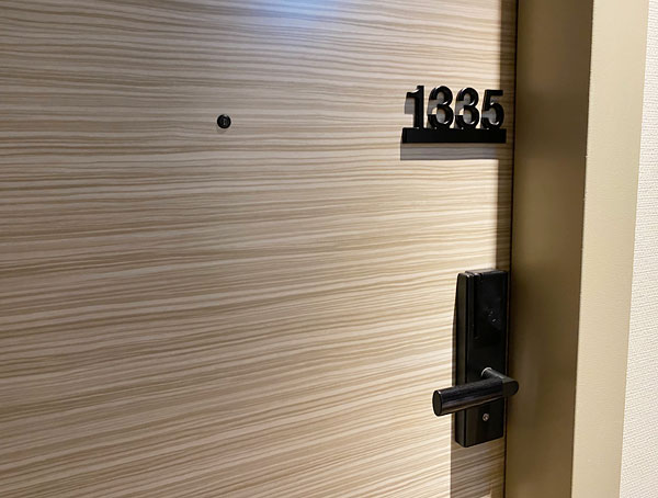 リーベルホテルの部屋のドア