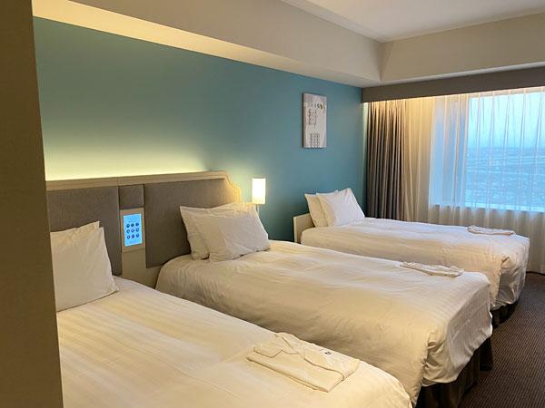 リーベルホテルのスーペリアツインにベッド追加