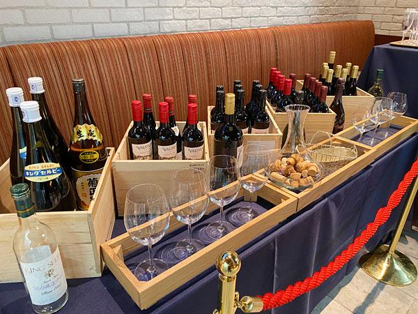 ワインテラスの豊富なワイン