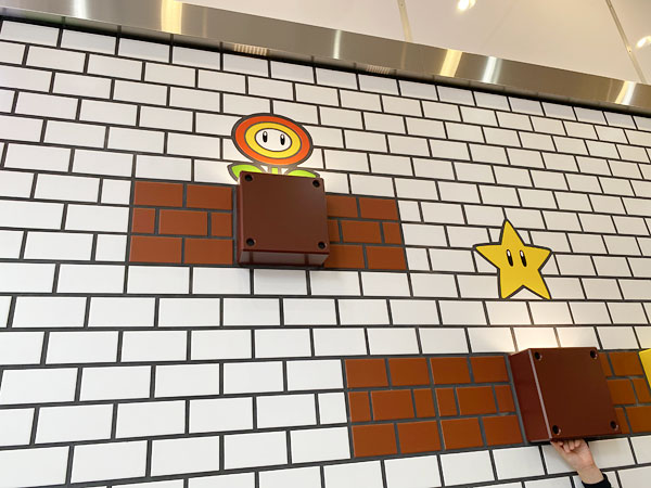 マリオカフェの壁