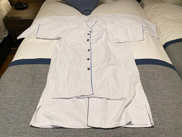 クインテッサホテル大阪ベイの大人用パジャマと子ども用パジャマとの比較