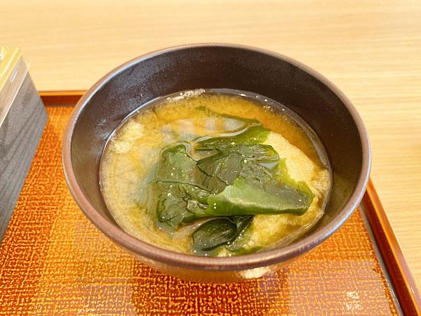 【シンギュラリホテル朝食】お味噌汁