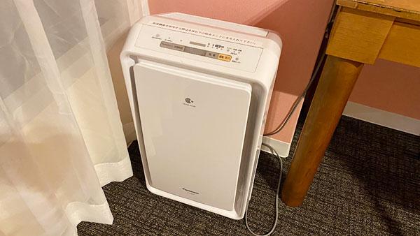 【ホテルシーガルてんぽーざん大阪】パナソニック製の空気清浄機