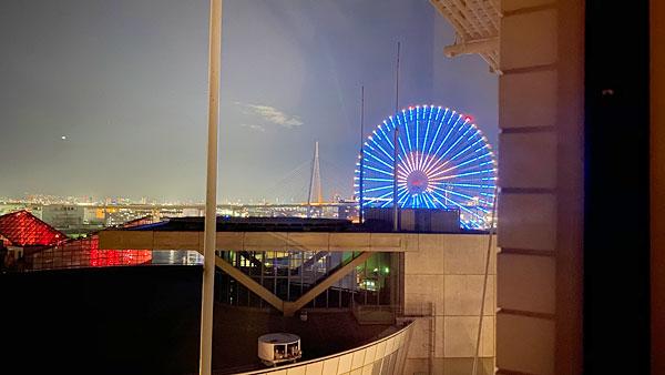 【ホテルシーガルてんぽーざん大阪】部屋から見える夜景