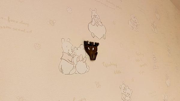 【ホテルシーガルてんぽーざん大阪】壁紙とフック