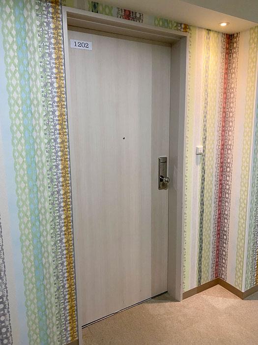 ホテルシーガルてんぽーざん大阪の1202の部屋の前