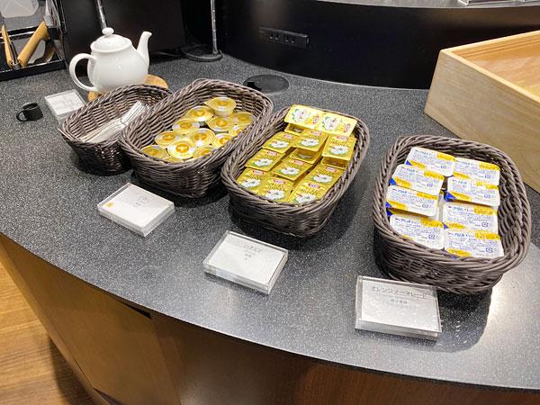 バター、ハチミツ、オレンジマーマレード【クインテッサホテル大阪ベイの朝食ブッフェ】