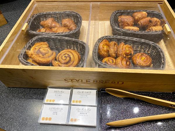 クロワッサン、パンオショコラ【クインテッサホテル大阪ベイの朝食ブッフェ】