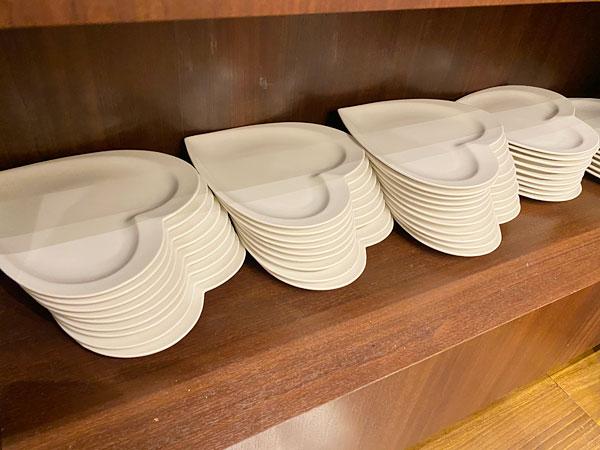 ハート型の皿【クインテッサホテル大阪ベイの朝食ブッフェ】