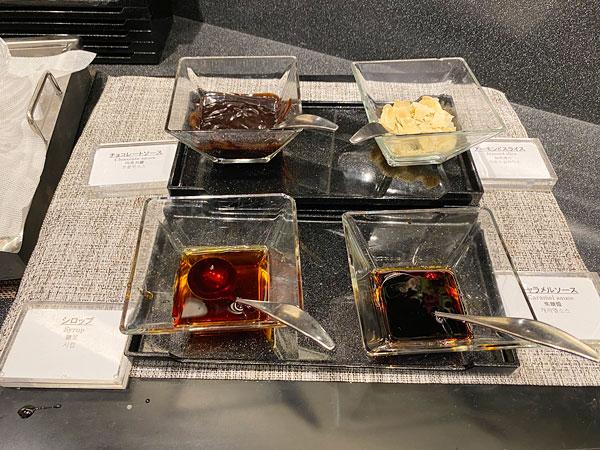 クロッフル用ソース【クインテッサホテル大阪ベイの朝食ブッフェ】