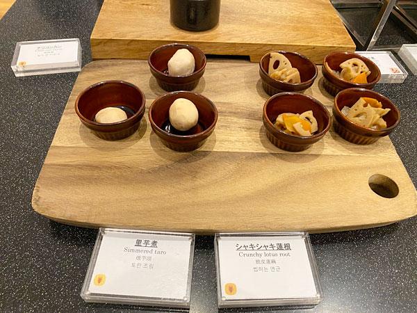 里芋煮、シャキシャキ蓮根【クインテッサホテル大阪ベイの朝食ブッフェ】