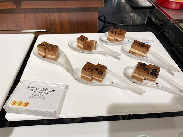 チョコレートケーキ【クインテッサホテル大阪ベイの朝食ブッフェ】