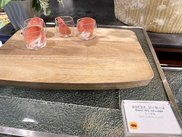 セミドライ ソーセージ【クインテッサホテル大阪ベイの朝食ブッフェ】