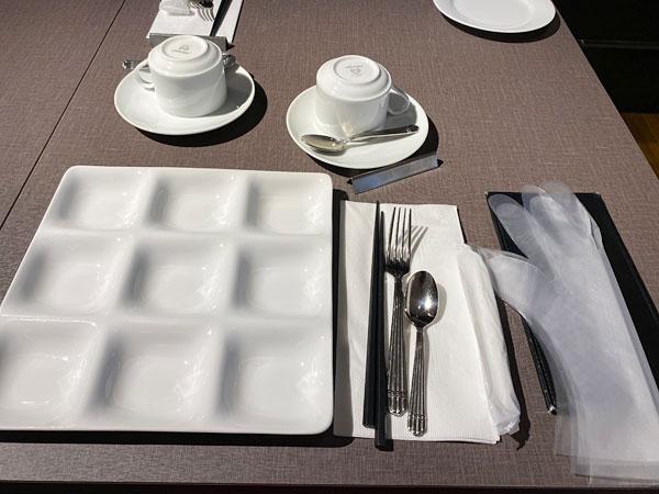テーブルセット【クインテッサホテル大阪ベイの朝食ブッフェ】
