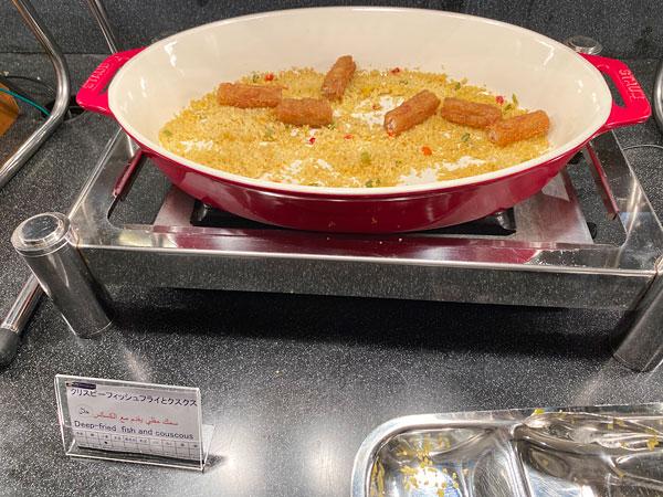 クリスピーフィッシュフライとクスクス【クインテッサホテル大阪ベイの朝食ブッフェ】